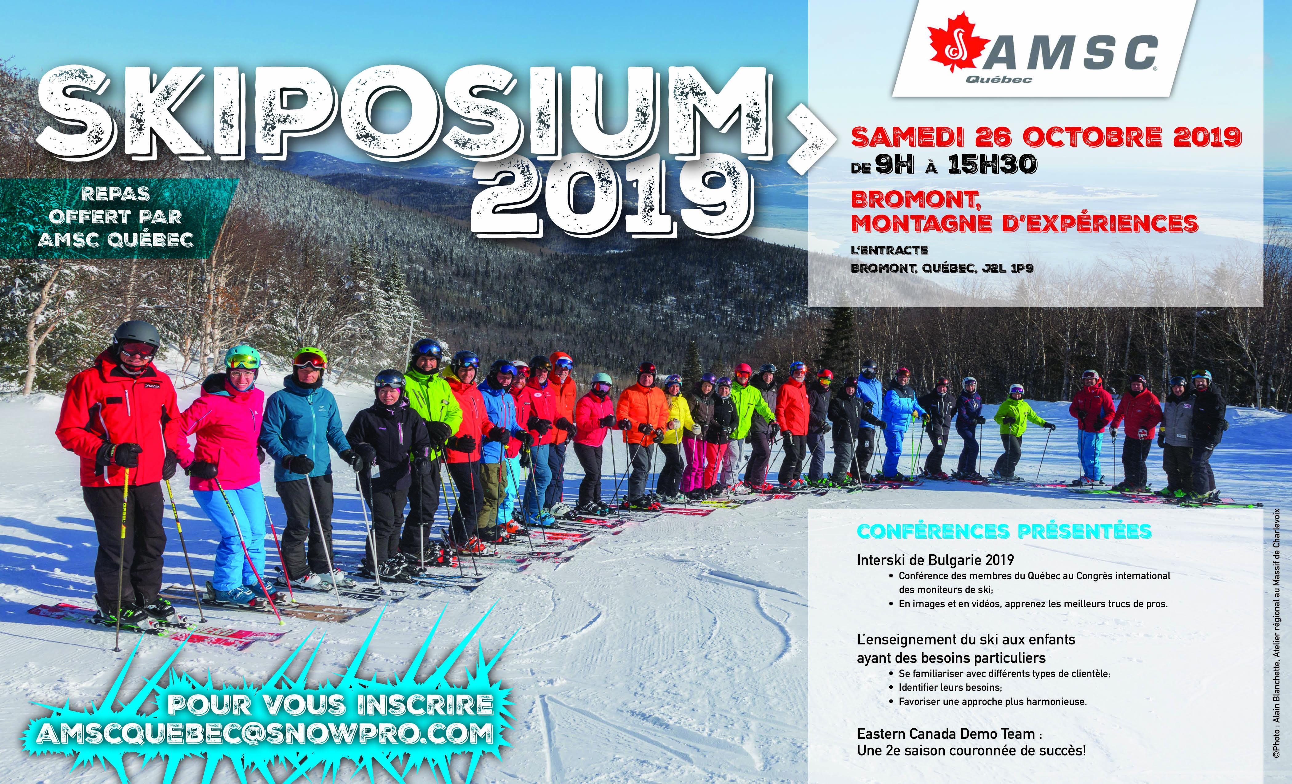 Skiposium 2019 | C'est un rendez-vous!