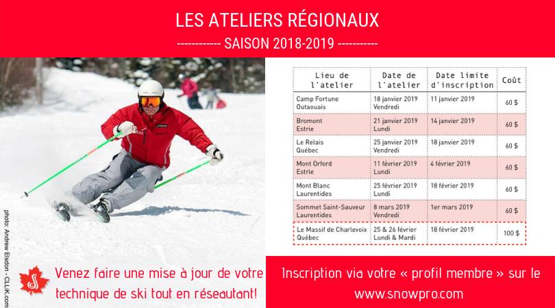 Atelier régional à la Station de ski Le Relais